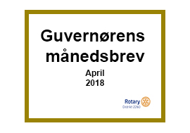 Månedsbrevet for april
